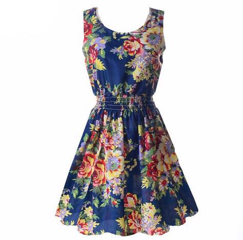 """Floral Ocean"" Summer Dress - LovelyMojo"