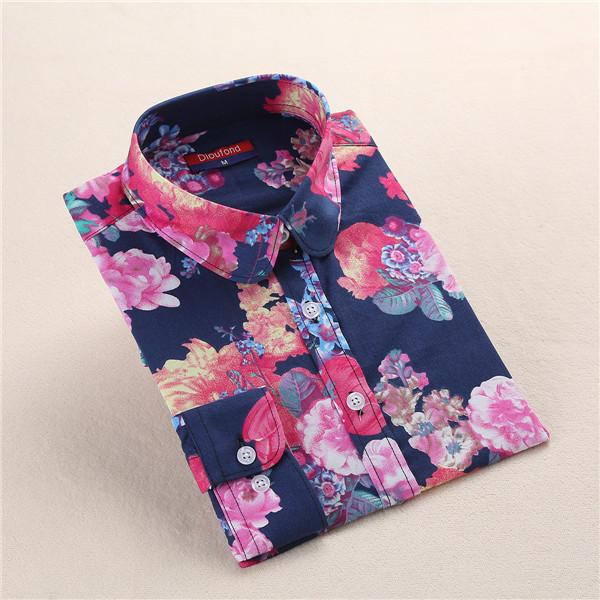 """Navy Bloom"" Women's Shirt - LovelyMojo"