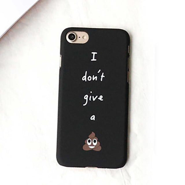 """I Don't Give A Shit"" iPhone Case - LovelyMojo"