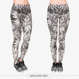 """Grey Weed"" Leggings - LovelyMojo"