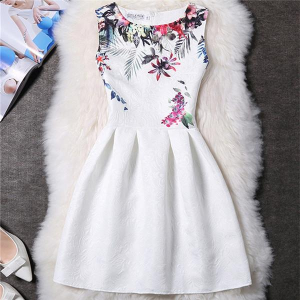 Floral White Vestido De Festa Dress - LovelyMojo