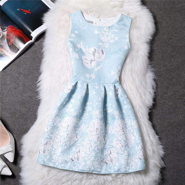 Blossom Blue Vestido De Festa Dress - LovelyMojo