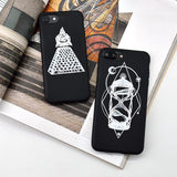 """Hourglass & Pyramid"" iPhone Case - LovelyMojo"