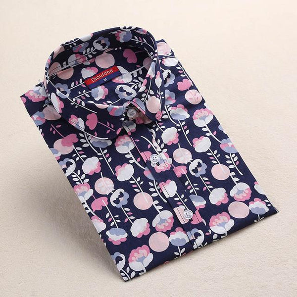 """Pink & Black Floral"" Women's Shirt - LovelyMojo"