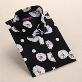 """Black Daisies"" Women's Shirt - LovelyMojo"