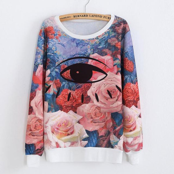"""Floral Eye"" Sweatshirt - LovelyMojo"