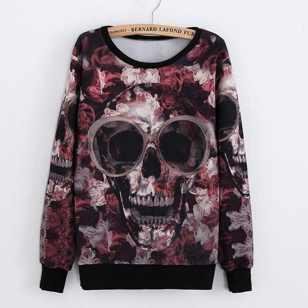 """Skull And Fun"" Sweatshirt - LovelyMojo"