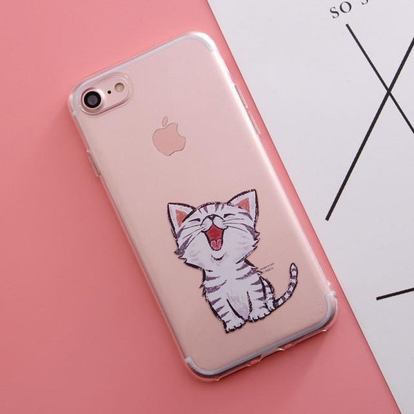 """Happy Kitty"" iPhone Case - LovelyMojo"