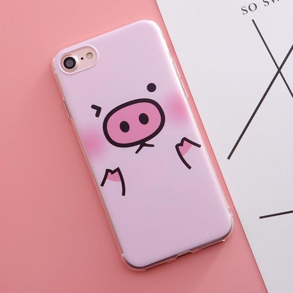 """Winky Pig"" iPhone Case - LovelyMojo"