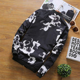 Black Floral Baseball Jacket - LovelyMojo