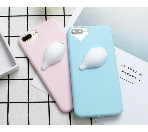 Pink & Blue Seal Squishy Phone Cases - LovelyMojo