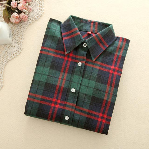 Dark Green Plaid Shirt - LovelyMojo
