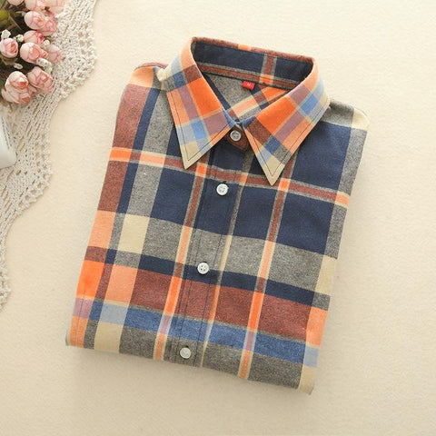 Orange Plaid Shirt - LovelyMojo