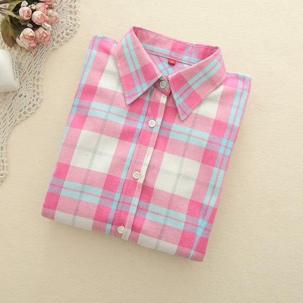 Hot Pink Plaid Shirt - LovelyMojo