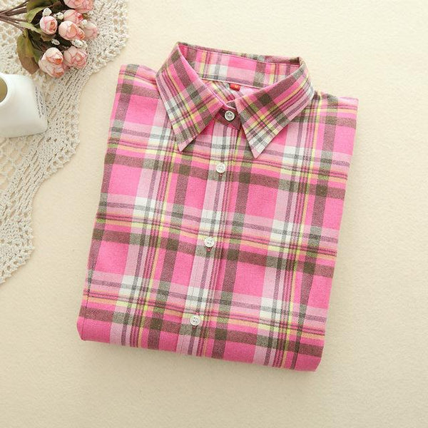 Pink Plaid Shirt - LovelyMojo