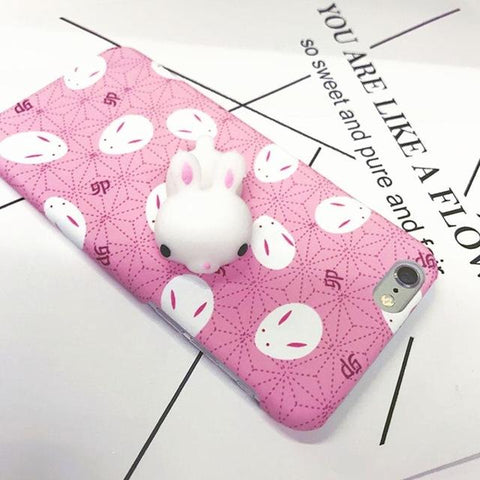"""Cute Rabbit"" Squishy Phone Case - LovelyMojo"