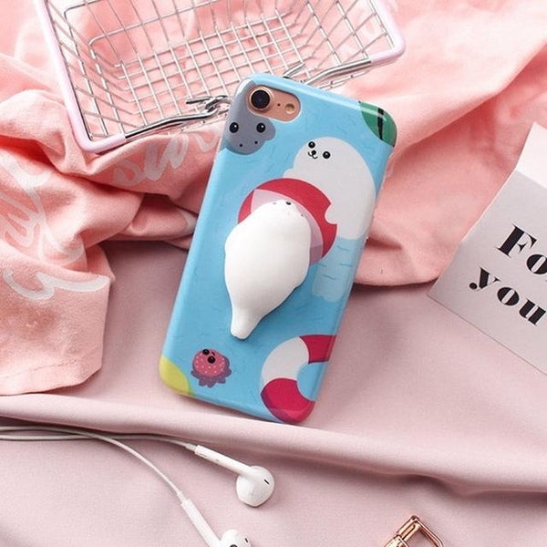 """Beach Seal"" Squishy Phone Case - LovelyMojo"