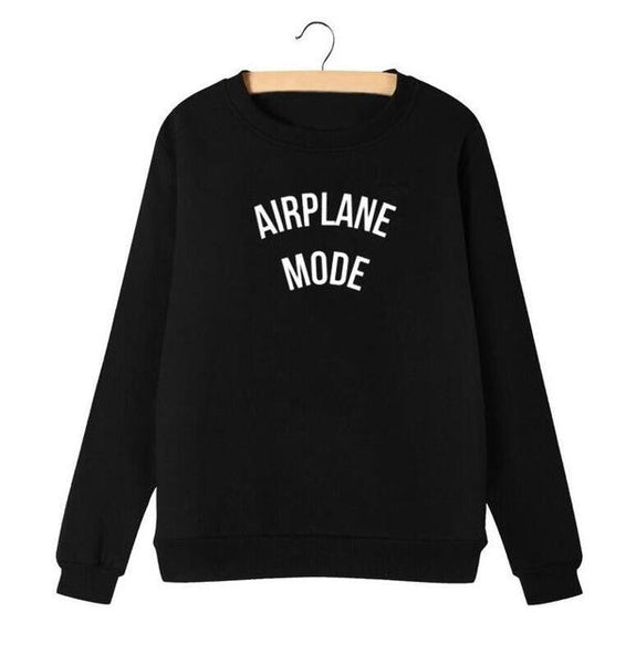 """Airplane Mode"" Sweatshirt - LovelyMojo"