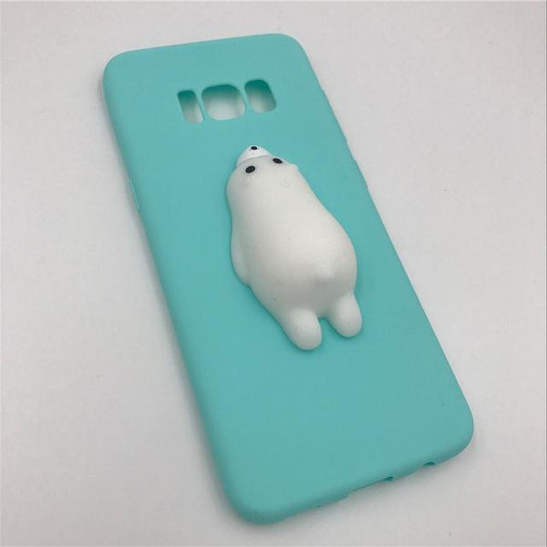 """Blue Seal"" Squishy Android Case - LovelyMojo"