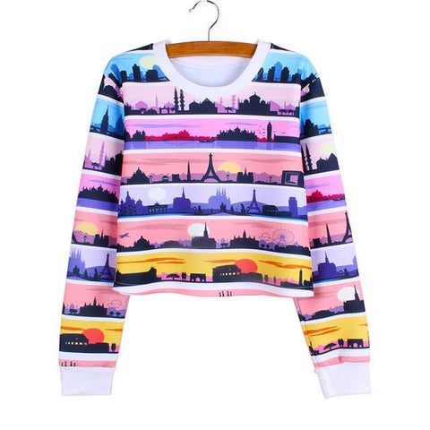"""Worldwide"" Cropped Sweatshirt - LovelyMojo"