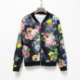 """Crazy As It Seems"" Floral Baseball Jacket - LovelyMojo"