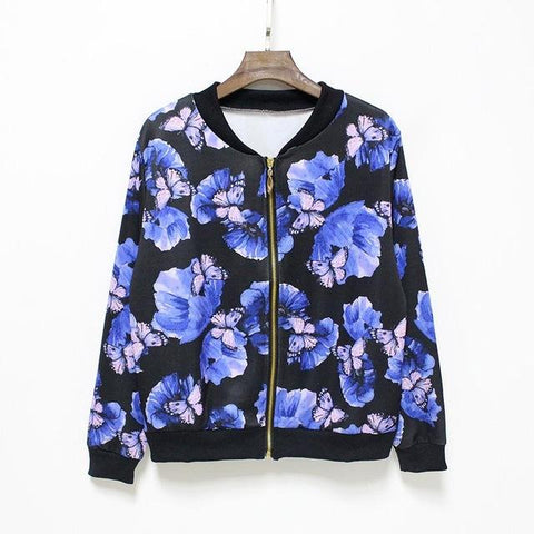 """Purple Haze"" Floral Baseball Jacket - LovelyMojo"