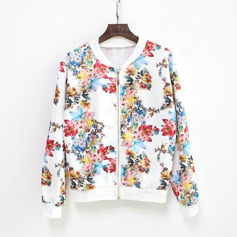"""Paint It With Colors"" Floral Baseball Jacket - LovelyMojo"