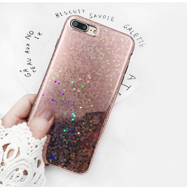 """Rose Gold Glitter"" iPhone Case - LovelyMojo"