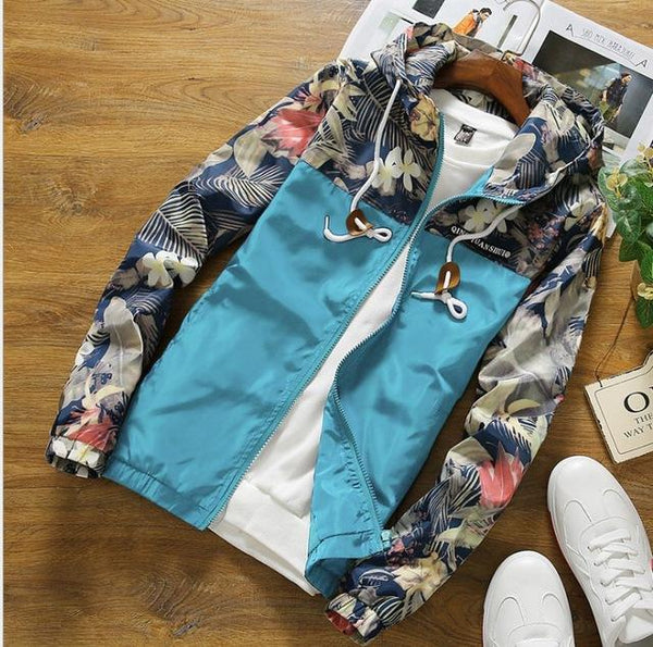 Blue Floral Jacket - LovelyMojo