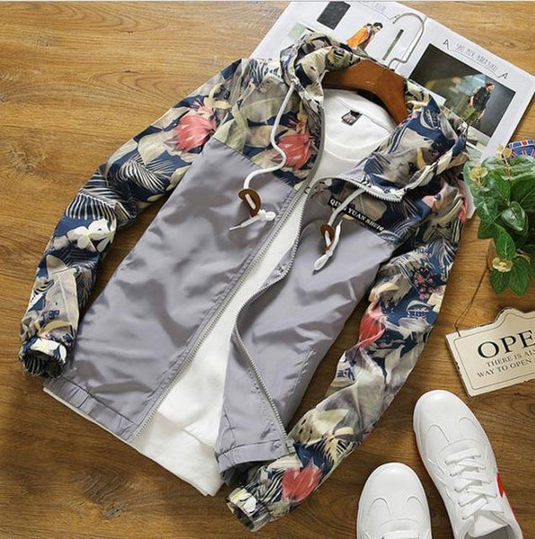 Grey Floral Jacket - LovelyMojo