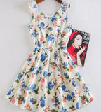 """Blue & Pink Floral"" Dress - LovelyMojo"