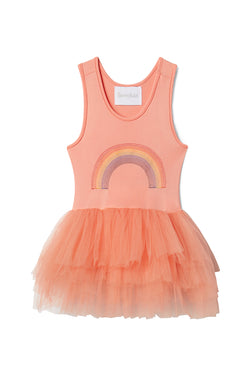 Girls tutu constructed from a classic leotard body, a spandex racerback bodice adorned with snap closures and tons of tulle to twirl in.