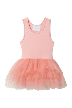 Iloveplum girls 'Bess' pink tutu features a classic leotard body, a spandex racerback bodice adorned with snap closures and tons of tulle to twirl in.