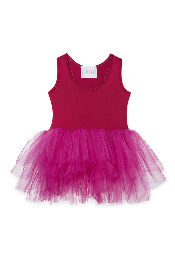 Iloveplum baby 'Olivia' pink tutu features a classic leotard body, a spandex racerback bodice adorned with snap closures and tons of tulle to twirl in.