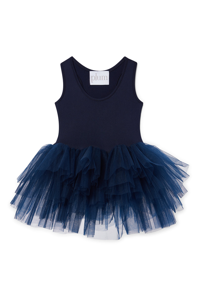 Iloveplum girls 'Opal' blue tutu features a classic leotard body, a spandex racerback bodice adorned with snap closures and tons of tulle to twirl in.