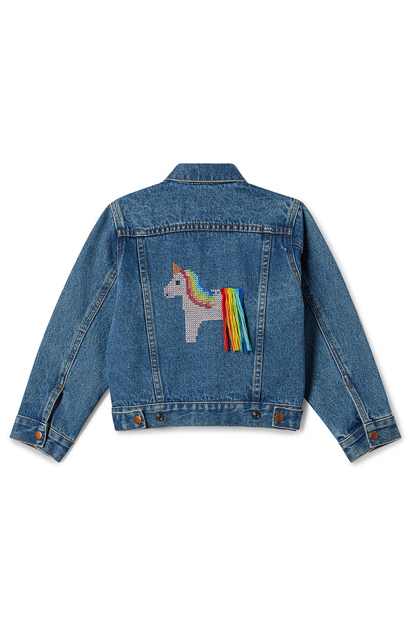 Phyllis Unicorn Denim Jacket