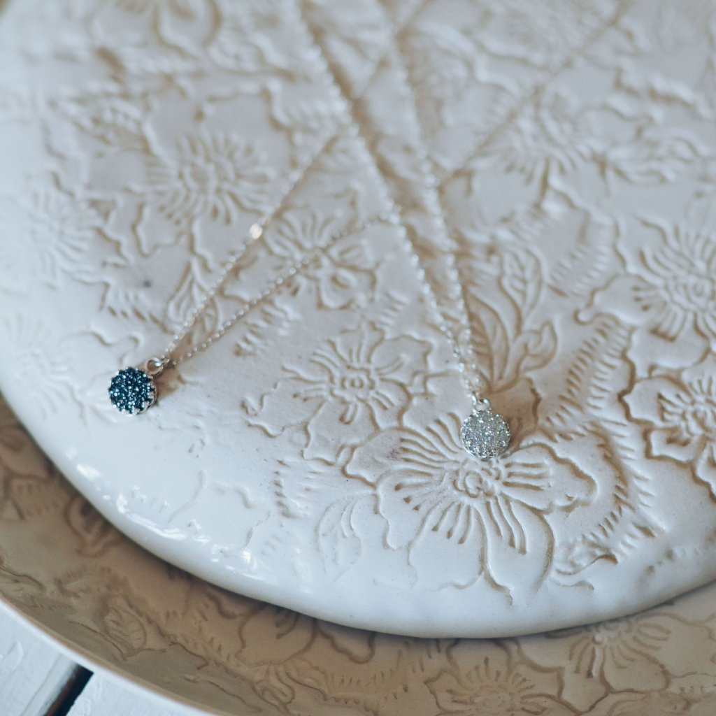 Midnight + Morning Light Druzy Necklace