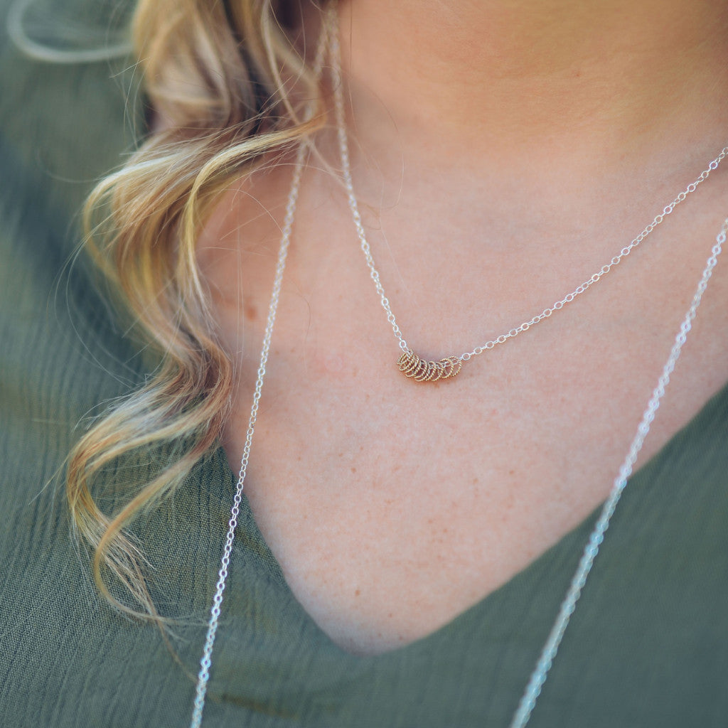 Tiny Twists Circle Necklace