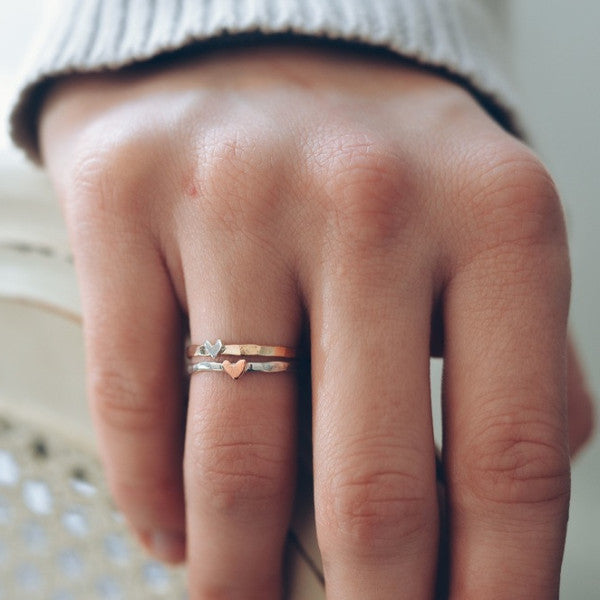 NEW Gold or Silver Cutie Heart Ring