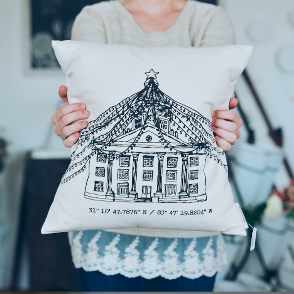 PREORDER Courthouse Pillow for JANUARY