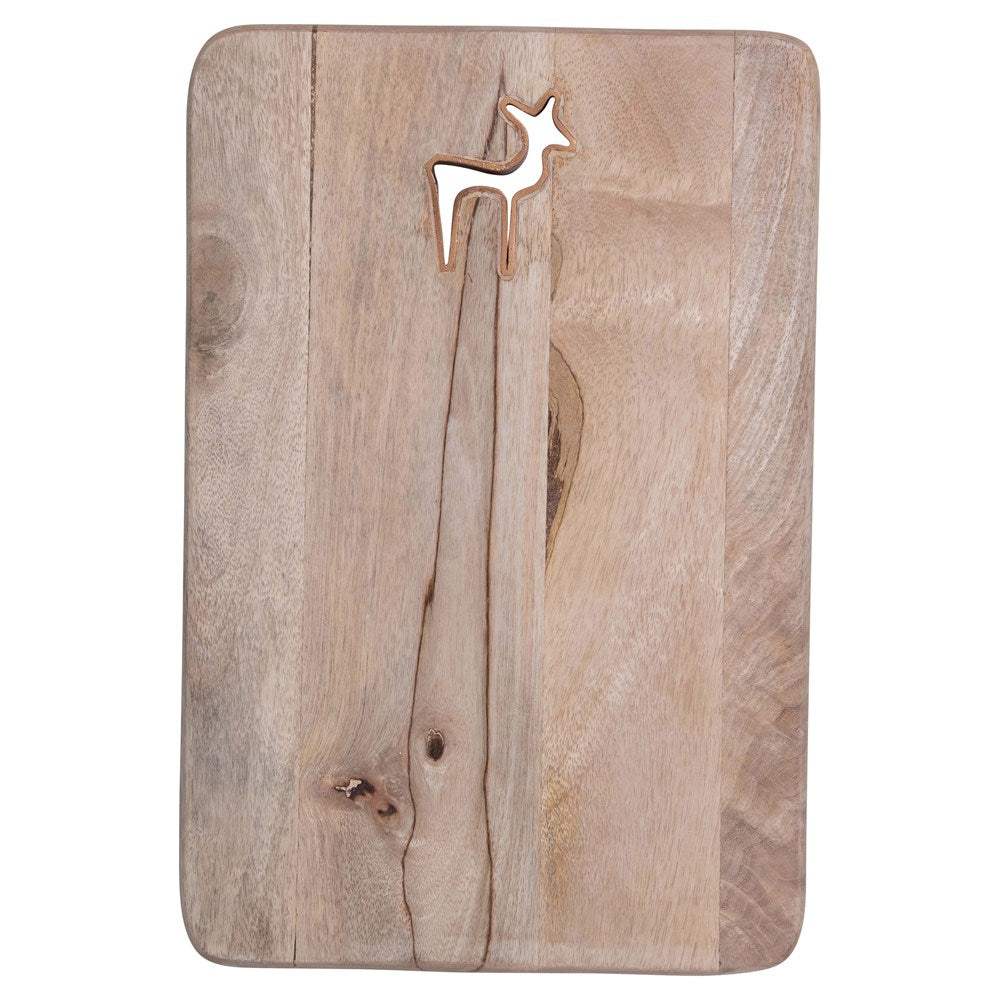 Reindeer Mango Wood Cutting Board