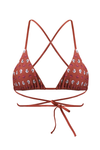 CLARA Bikini Top in Flower Knot Red