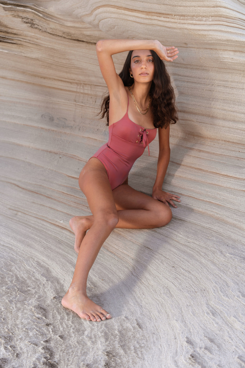 ALMA One Piece Dusty Rose