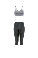 JULIE 3/4 Leggings in Charcoal
