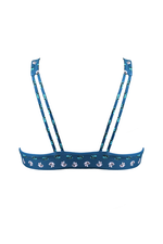 BELEN Bikini Top in Flower Knot Blue