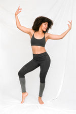 MITSOS Coated Leggings in Smoke & Charcoal