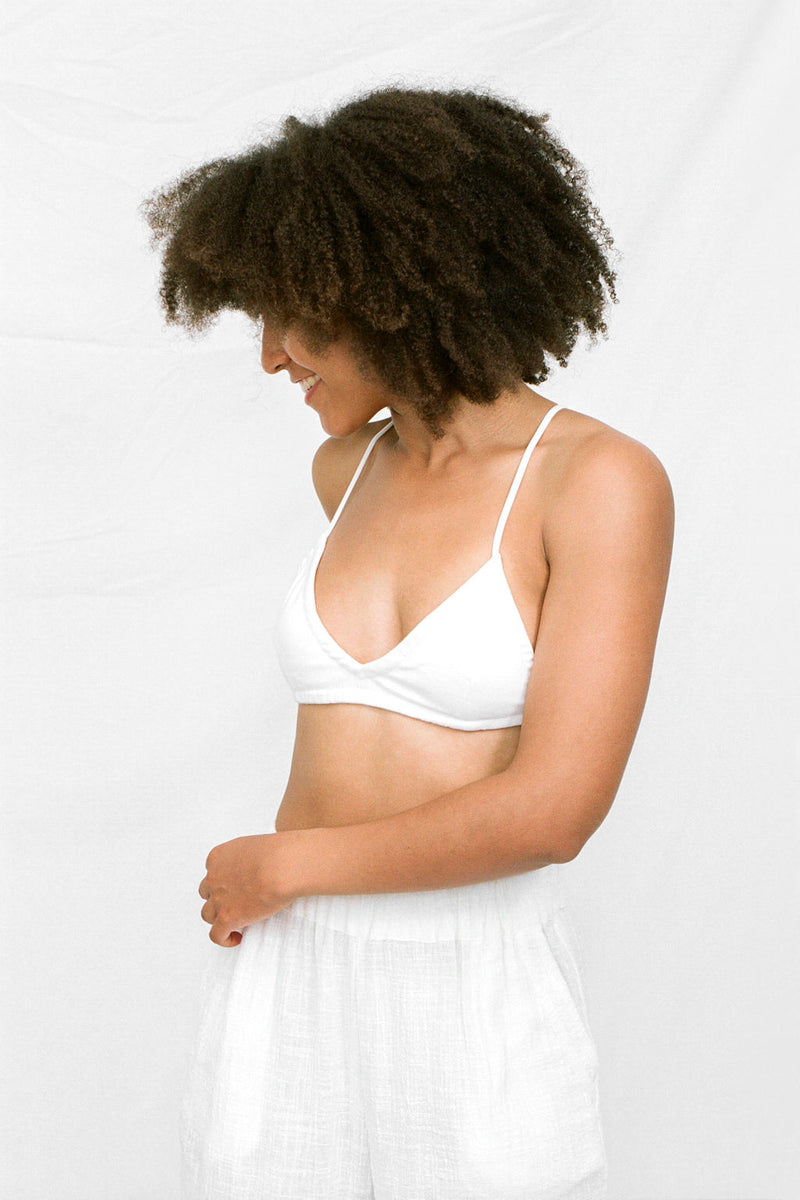PETITE: MATHILDA Bralette in White
