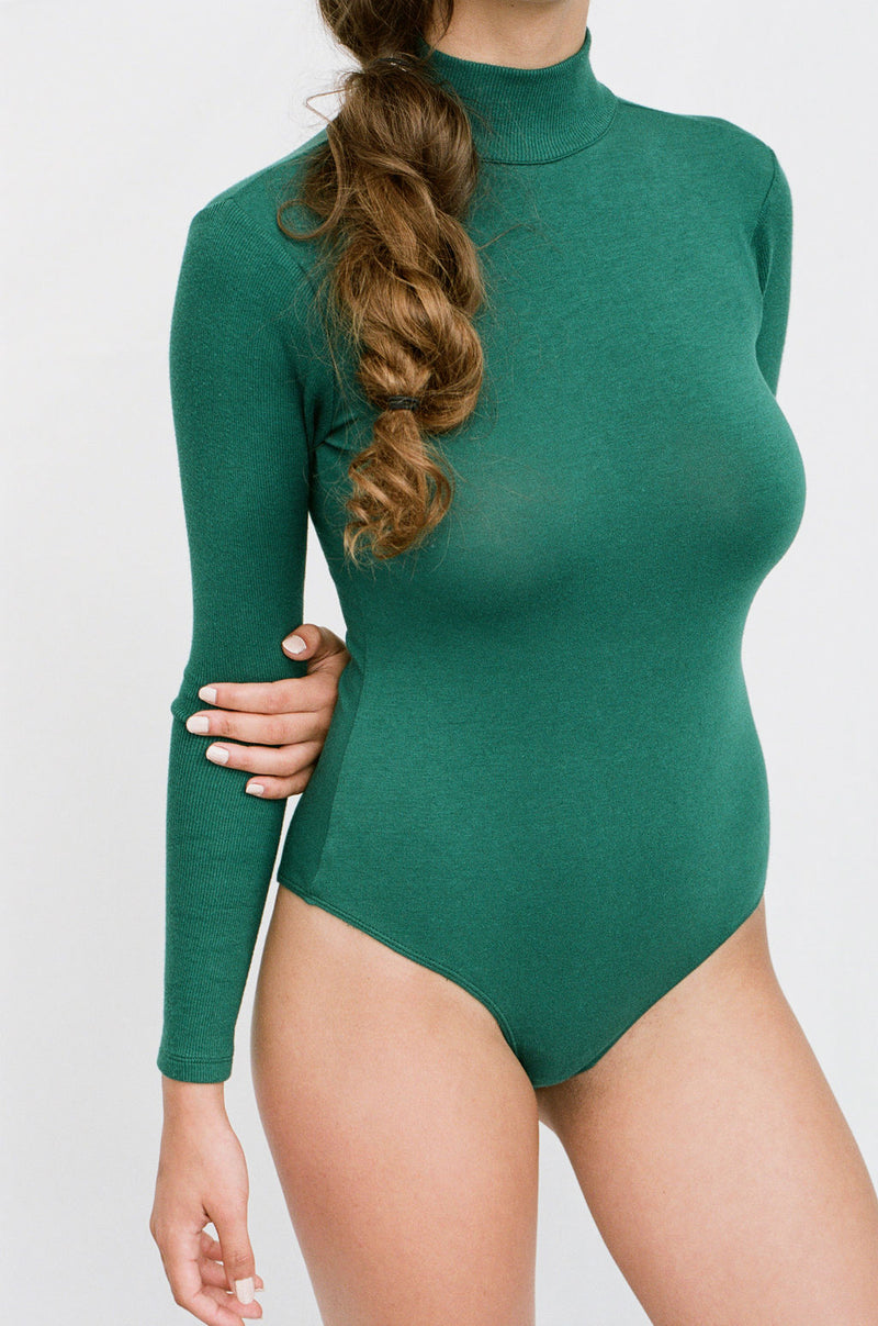 ALEXIOS Turtleneck Bodysuit in Racing Green