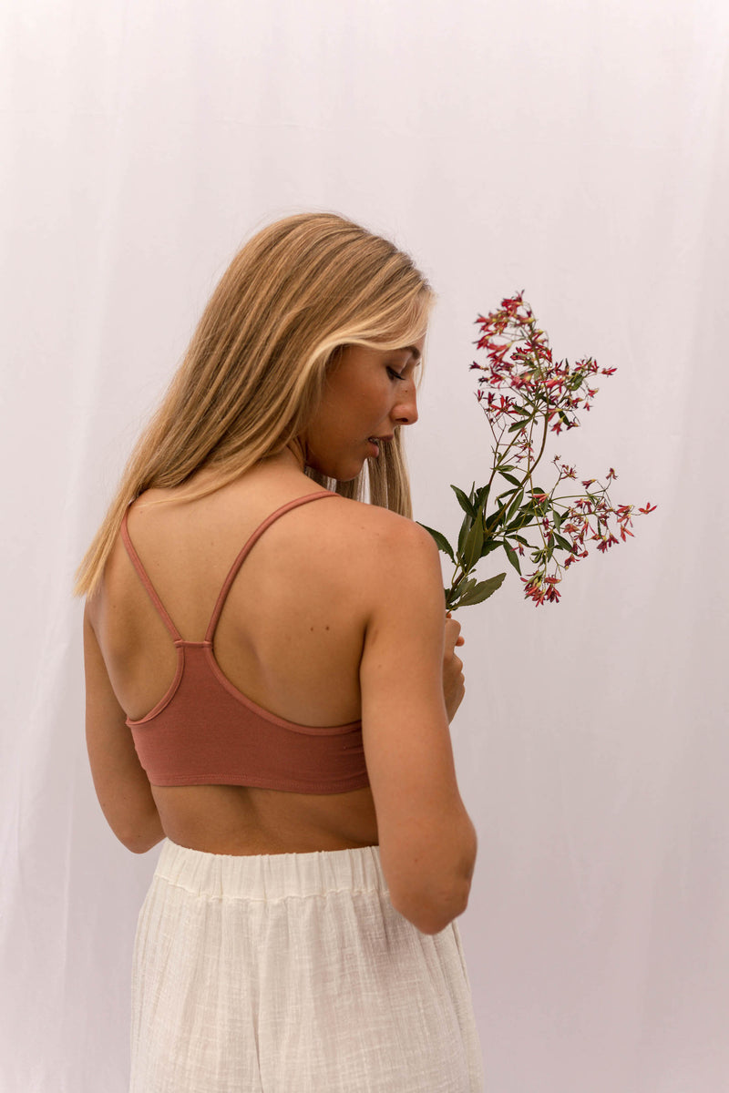 FRANCA Racerback Bralette in Copper