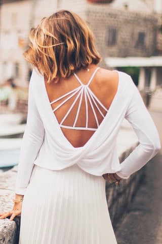 AMALFI Twist Top Off-White